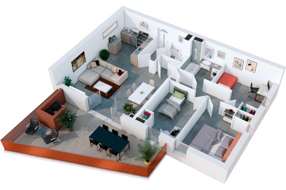 L'utilisation de plan 3D dans l'architecture intérieure